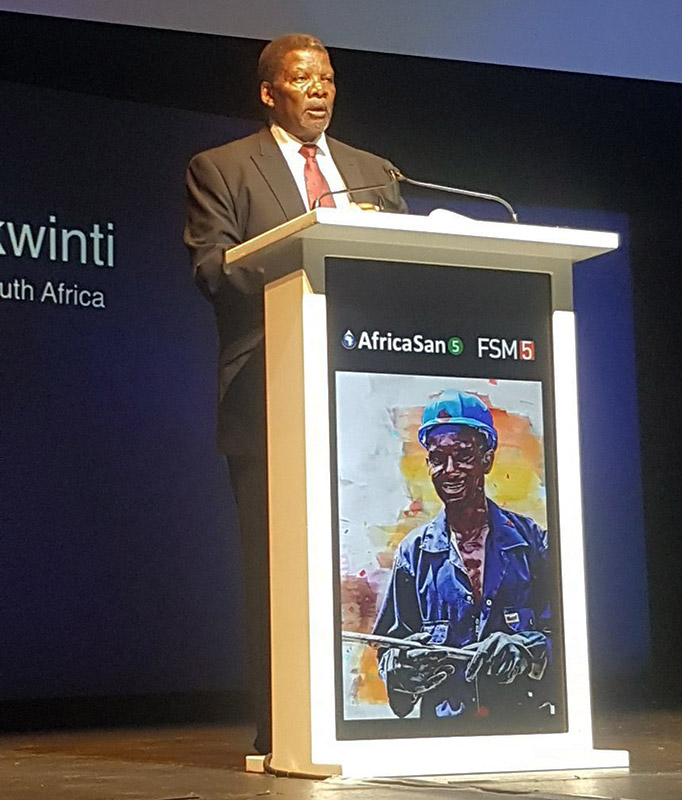 FSM5/AfricaSan5: Hon. Gugile Ernest Nkwinti, Minister of Water and Sanitation, Republic of South Africa