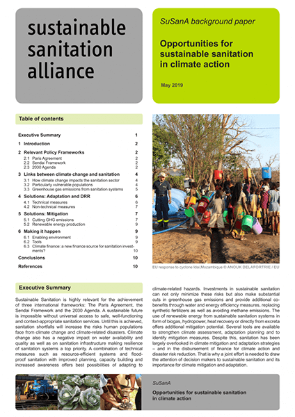 SuSanA background paper: Opportunities for sustainable sanitation In climate action